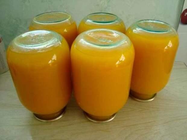 Тыквенный сок с апельсинами и лимонами на зиму