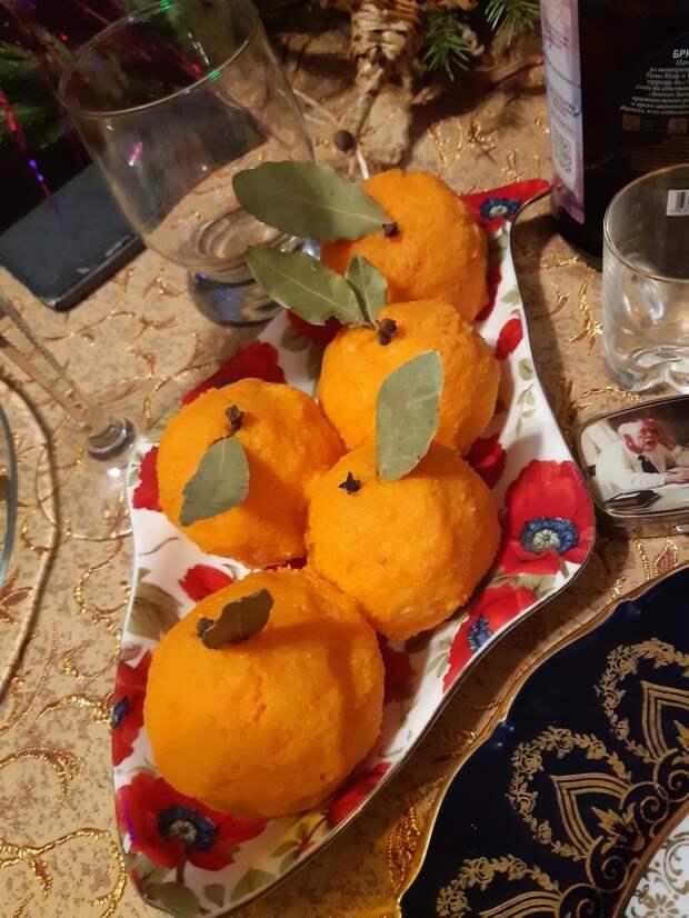 Сырные мандарины - новогодний рецепт