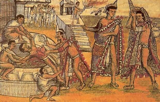 Жуткий ритуал ацтеков: добровольное принесение себя в жертву. / Фото: listverse.com