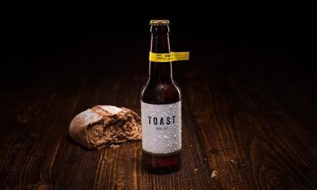 Пиво от компании Toast Ale, которое готовится с использованием излишков хлеба. /Фото: guatesostenible.com
