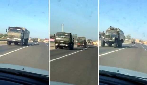 Очевидцы: Россия стягивает подразделения к границе на Кавказе, переброшены Ту-22М3