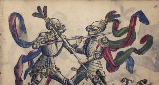 """Иллюстрация из манускрипта """"Gladiatoria"""""""