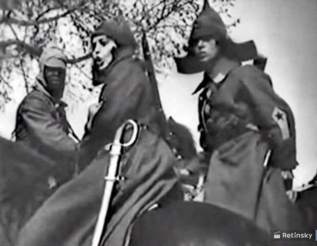 Кадр из фильма «Красные дьяволята», режиссёр Иван Перестиани, 1923 год
