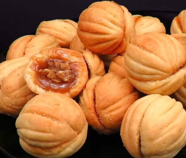 Вкус детства: печенье орешки, приготовленные без специальной формочки