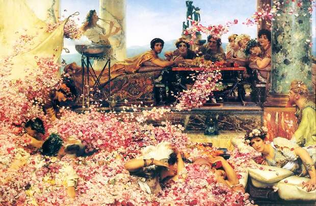 Розы Гелиогабала. Картина Лоуренса Альма-Тадемы.