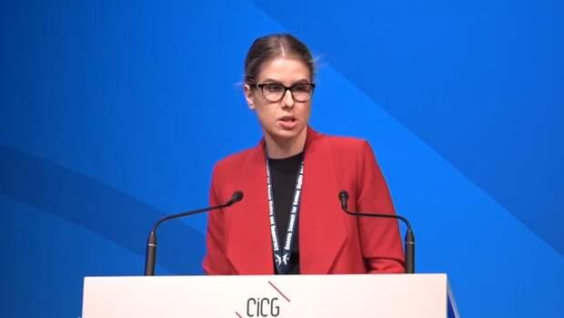Соболь опозорилась на форуме в Женеве