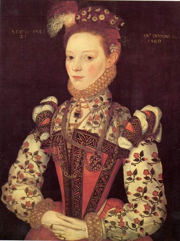 Королевы и герцогини содержали своих придворных дам.