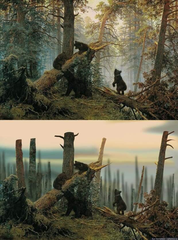 Русский лес глазами наших чиновников варвары, деревья, культура, россия, традиции