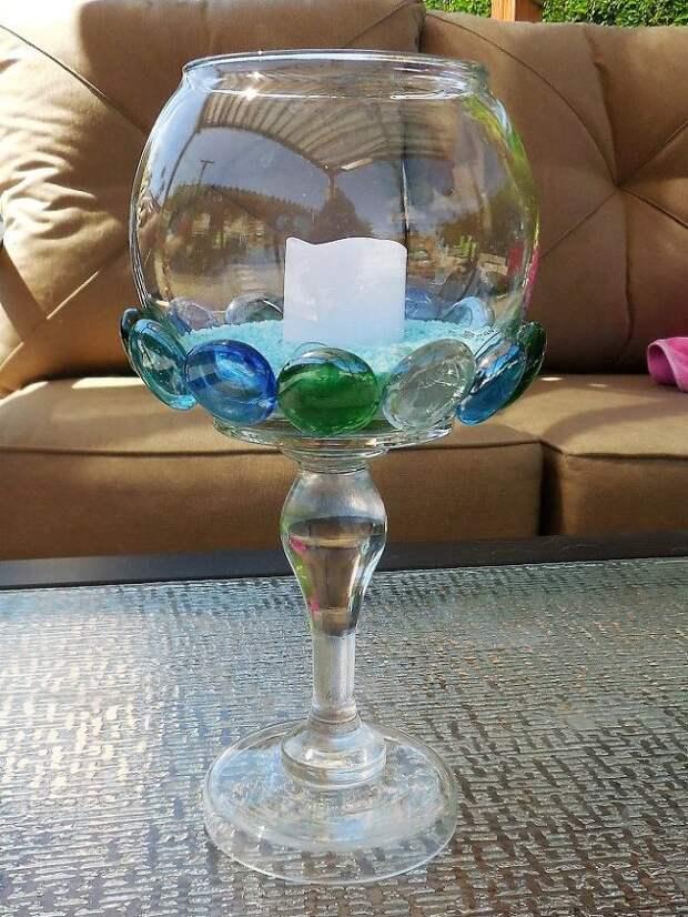 Необычный декор обычных вещей с помощью стеклянных полусфер