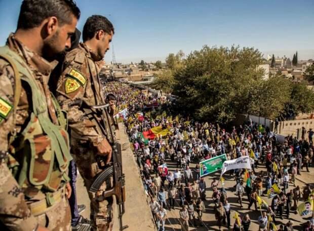 В сирийском городе Джераблус у турецкой границы началось восстание