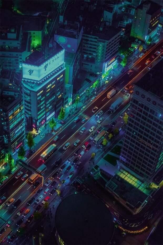 Город огней: 15 потрясающих снимков ночного Токио с высоты небоскребов