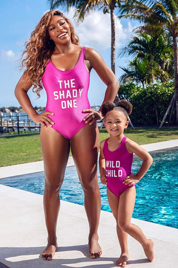 Серена Уильямс с дочерью Алексис