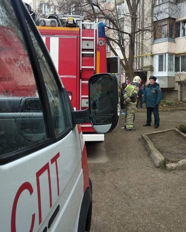 В Симферополе из горящей многоэтажки эвакуировали более 20 человек