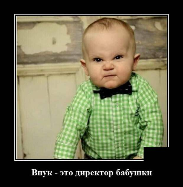 Демотиватор про внуков