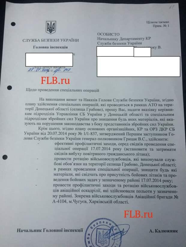 Опубликованы материалы, доказывающие вину Украины в уничтожении «Боинга»