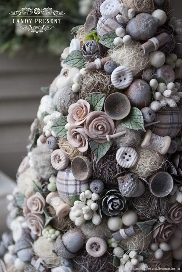 Новогодние ёлочки из природных материалов: как и из чего делать