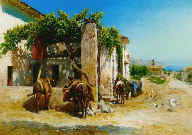 Итальянская деревня на побережье.