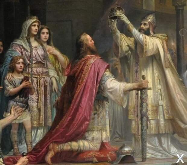 Фрагмент картины «Коронация Карла Вел...