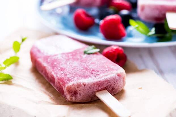Домашний фруктовый лед без сахара