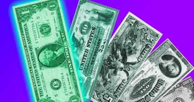 Оказывается, доллар не всегда был зелёным