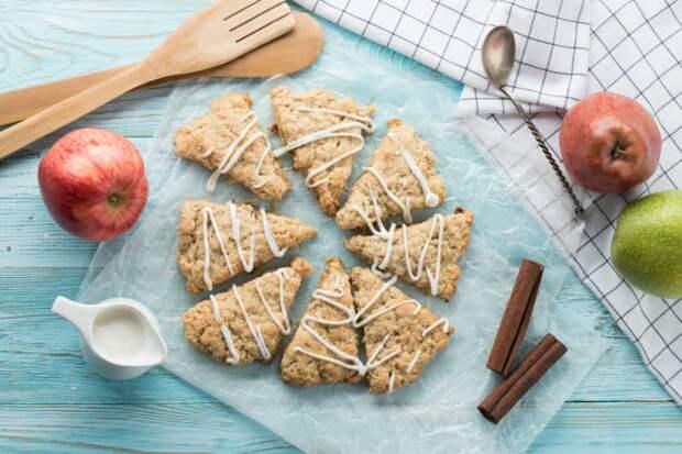 Яблочные сконы. Ароматное треугольное печенье на скорую руку 2