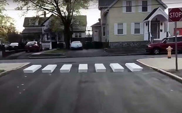 Пешеходная 3D-разметка: теперь притормозит каждый