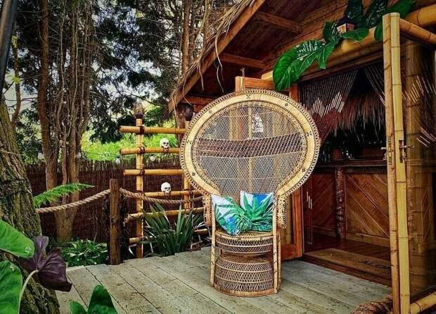 Любящий муж создал для жены райский остров на заднем дворе Крис Лодж, Сила любви, муж и жена, необычно, райский остров, садовник-любитель, сюрприз для любимой, тропики у дома