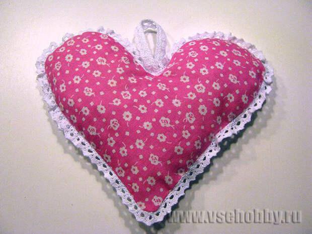 противоположная сторона грелки сердечка
