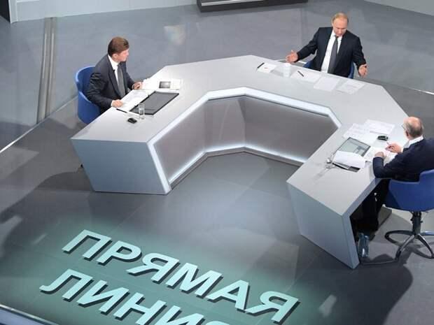 Песков сообщил, что прямая линия с Путиным готовится