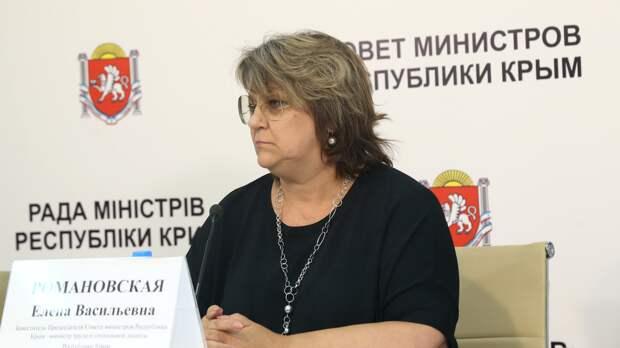 Вице-премьер Крыма Романовская заразилась коронавирусом