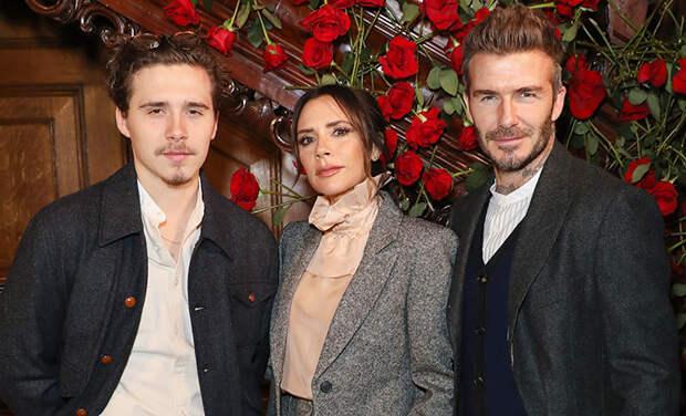 Дэвид и Виктория Бекхэм поддержали невесту сына Бруклина во время болезни