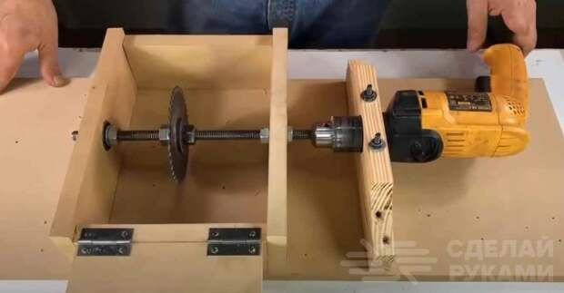 Как сделать мини циркулярную пилу из электродрели