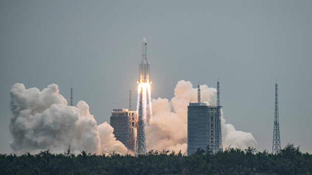 Ступень ракеты, которая отправила модуль КНР в космос, упадет 8-9 мая