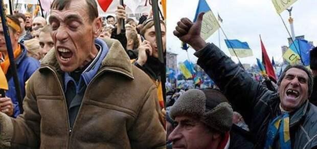 «Никогда мы не будем братьями»: Обедневшие майдауны хлынули в Россию