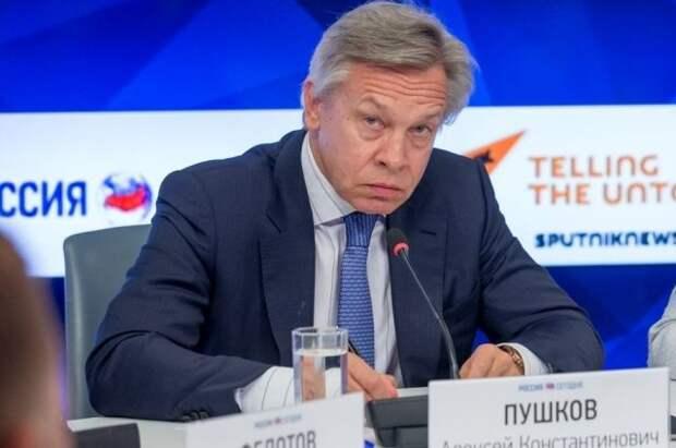 Пушков заявил, что жалобы Зеленского из-за «СП-2» не повлияют на Байдена