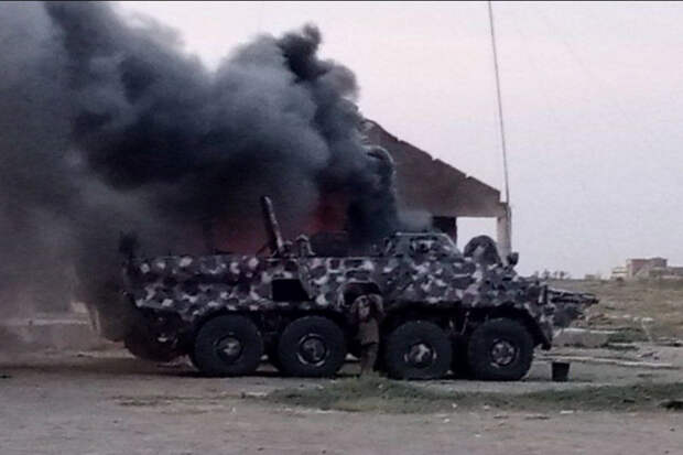Украинские бронетранспортеры сожгли в Африке