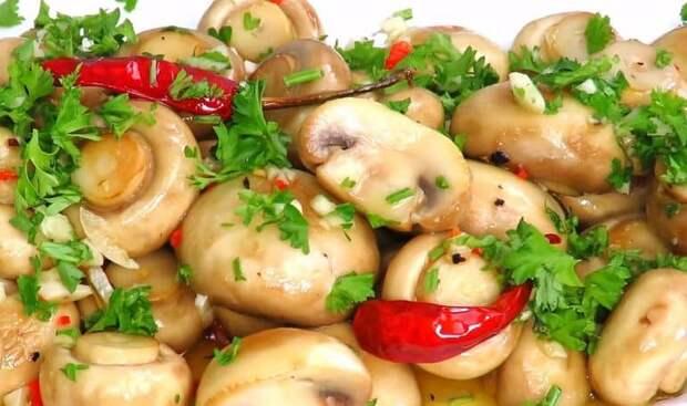 Шампиньоны Пикантные. Оригинальная закуска из любимых грибов к любому столу 2