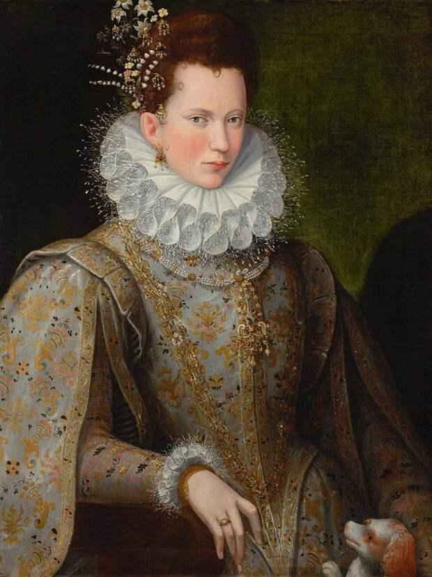 Портрет придворной дамы, сделанный придворной художницей (Лавинией Фонтана).
