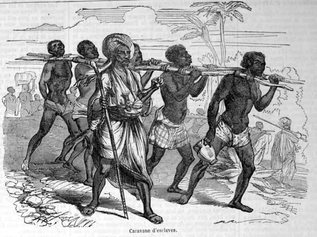 Конвоирование плененных рабов (Восточная Африка, Верхний Нил, 1840-е годы)