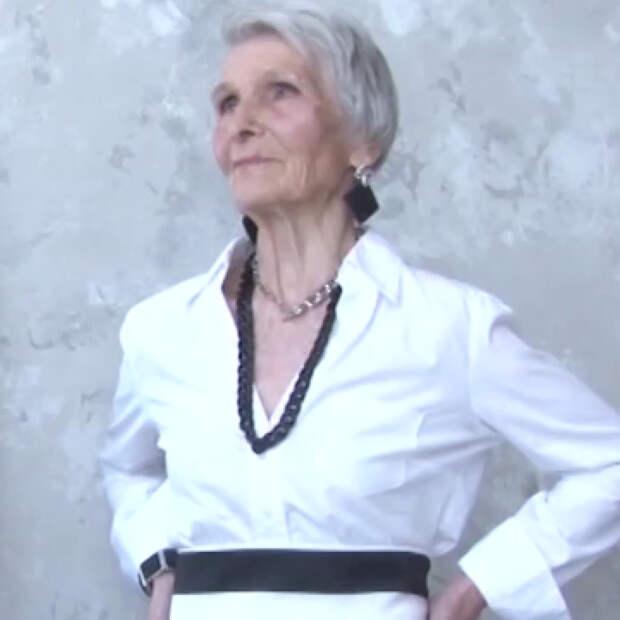80-летняя пенсионерка стала моделью