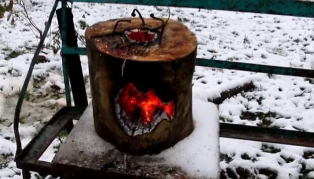 После выгорания полено разваливается / Фото: rukami.boltai.com