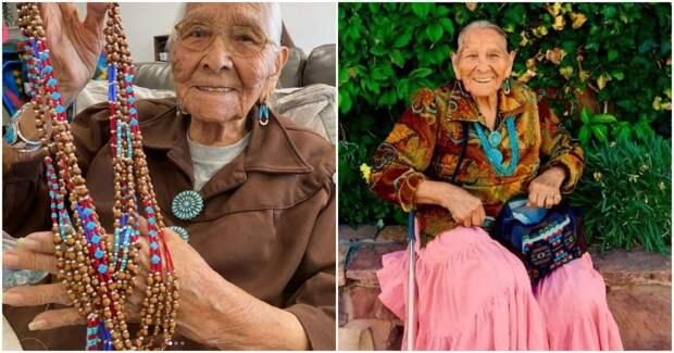 96-летняя бабушка становится популярной в TikTok благодаря бисероплетению