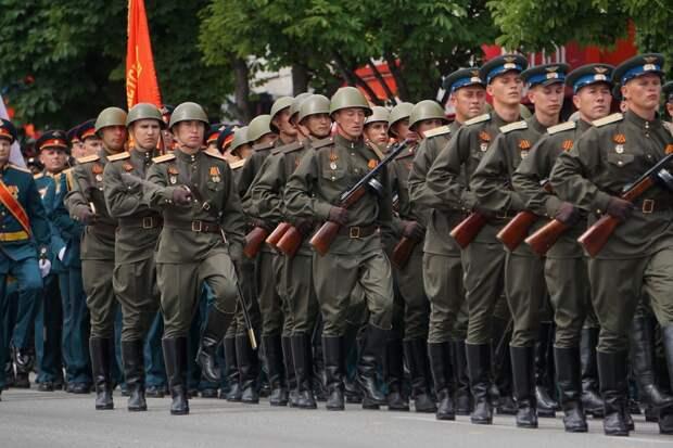 В десяти городах на юге России состоялась вторая репетиция парадов ко Дню Победы