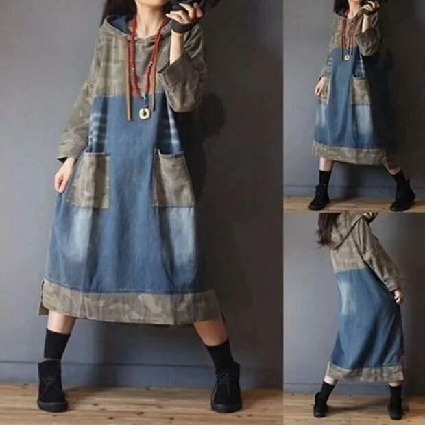Идеи переделки джинсовых платьев
