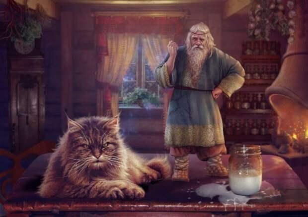 Краткая биография кота Баюна — самого неоднозначного сказочного героя