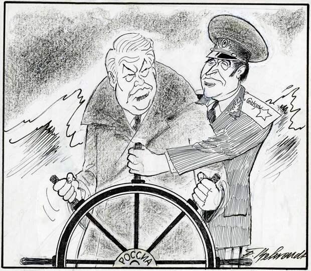 Не вполне вменяемый капитан и постоянно контролирующий его помощник (Павел Грачев)