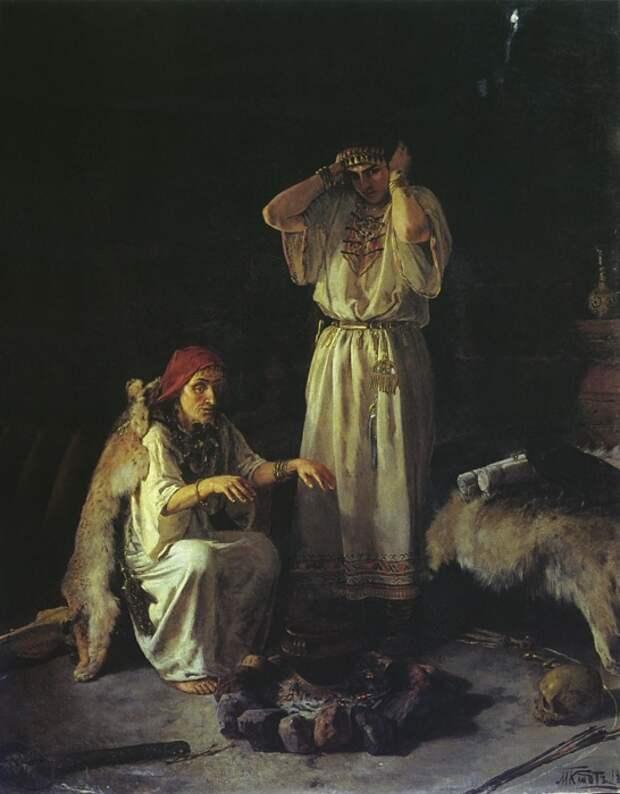 Михаил Петрович Клодт, «Колдунья», 1891 год. / Фото: www.stydiai.ru