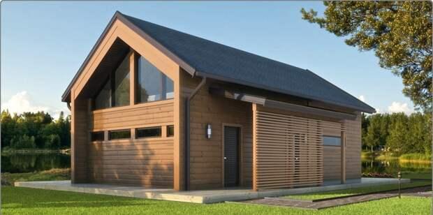Еще один вариант деревянного дома, который в прошлом столетии для многих напоминал бы сарай.