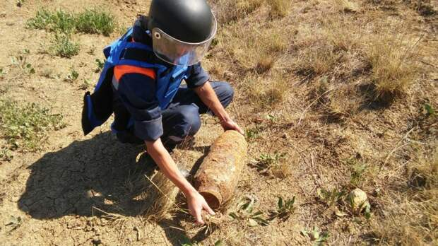 На территории заповедника «Опук» обнаружили авиабомбу времён ВОВ