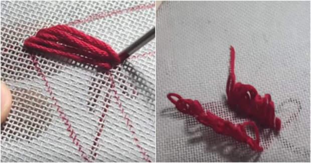 Интересная и необычная техника: вышиваем с помощью шприца